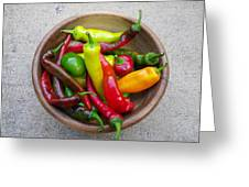 Organic Colorful Peppers Greeting Card