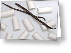 Organic Marshmallows With Vanilla Greeting Card