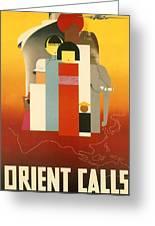 Orient Calls Greeting Card
