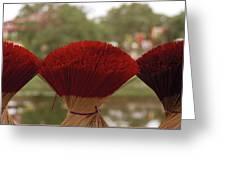 Oriental Hue Greeting Card