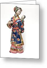 Oriental Lady And Child Greeting Card