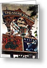 Original Treasure Island Marquee 1994 - Impressions Greeting Card