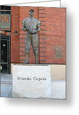 Orlando Cepeda At San Francisco Giants Att Park .7d7631 Greeting Card