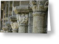 Ornament Of Cloister Of Puy En Velay. Haute Loire. Auvergne Greeting Card