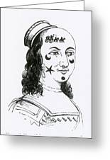 Ornamental Patches On Face, 17th Century Greeting Card