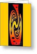 Ornamental Vase - Fire Greeting Card