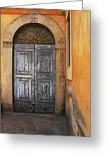 Orvieto Doorway Greeting Card