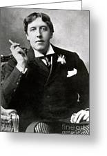 Oscar Wilde, Irish Author Greeting Card by Photo Researchers