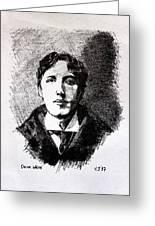Oscar Wilde Greeting Card by John  Nolan