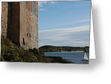 Oslo Castle And Harbor Greeting Card