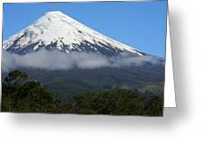 Osorno Volcano Ringed By Clouds Greeting Card