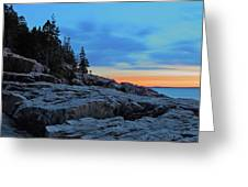 Otter Point At Dawn Greeting Card