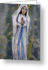 Our Lady Of Lourdes 2 Greeting Card