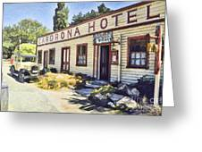 out front Cardrona Hotel Greeting Card