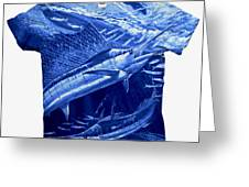 Out Of Sight Mens Blue Shirt Greeting Card