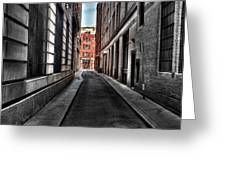 Out Of The Alley Greeting Card