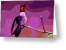 Out On A Limb - Pink Greeting Card