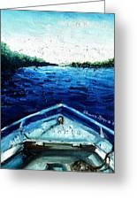 Out On The Boat Greeting Card