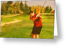 Out On The Course Greeting Card