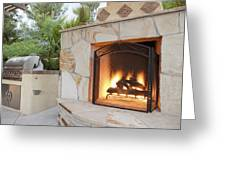 Outdoor Patio Living Space Residential Greeting Card