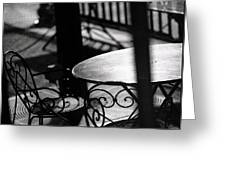 Outdoor Seating Greeting Card by Vicki Jauron
