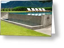 Outdoor Swimming Pool Greeting Card by Atiketta Sangasaeng