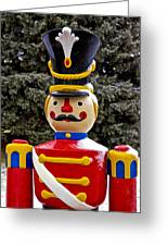 Outdoor Toy Soldier Greeting Card