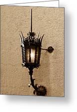 Outdoor Wall Lamp Dark Sepia Greeting Card