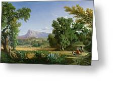 Outskirts Of Valdemusa Greeting Card