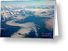 Over Alaska Greeting Card