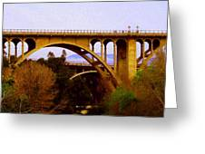 Over The Arroyo Greeting Card