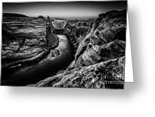 Over The Glen Canyon Dam Greeting Card