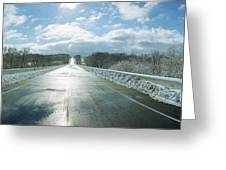 Over The Hill And Beyond Greeting Card