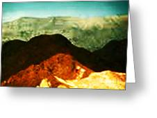 Over The Hills We Go Greeting Card