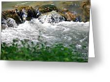 Over The Stones The Water Flows Greeting Card