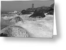 Overflooding Black And White Greeting Card