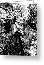 Overgrown Windpump Greeting Card