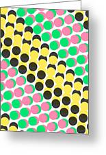 Overlayed Dots Greeting Card
