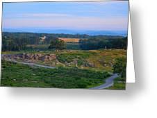 Overlook Of The Gettysburg Battlefield Greeting Card