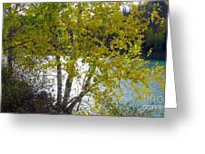 Overlooking The North Saskatchewan River Greeting Card