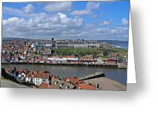 Overlooking Whitby Greeting Card