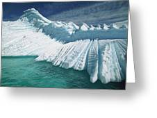 Overturned Iceberg With Eroded Edges Greeting Card