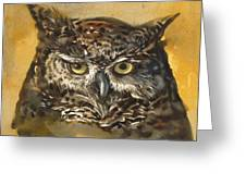 Owl Watercolor Greeting Card