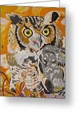 Owl In The Fall Greeting Card