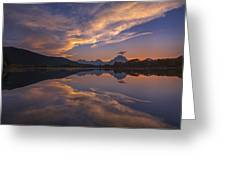Ox Bow Bend Sunset Greeting Card by Joseph Rossbach