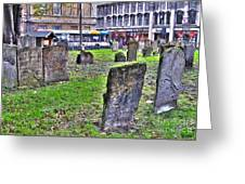 Oxford England Graveyard Greeting Card