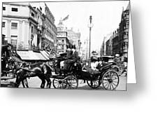 Oxford Street - London - England - C 1909 Greeting Card