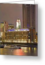 Oxo Tower Night   Greeting Card