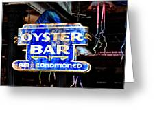 Oyster Bar Sign Greeting Card
