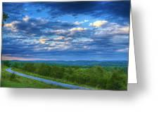Ozark Pasture At Dusk Greeting Card